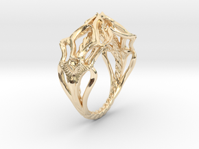 Ring Nouveau01 V02 in 14K Yellow Gold