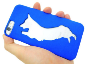 Corgi Iphone 6 Case in Blue Processed Versatile Plastic