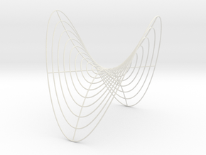 Saddle -- Cylindrical Curves (8 in) in White Strong & Flexible