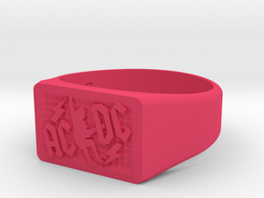 Size 7 TNT Ring  in Pink Processed Versatile Plastic