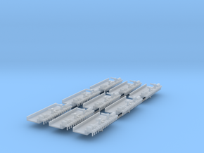 Shipyard with pier x9 in Smooth Fine Detail Plastic