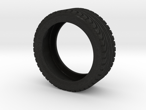 CATERHAM Tire Front Right x1 Black Acrylic 1-12 in Black Acrylic