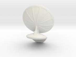 Observation Post Radar Top in White Natural Versatile Plastic