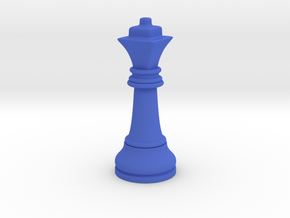 Single Chess Queen Big Square | Timur Ferz in Blue Processed Versatile Plastic