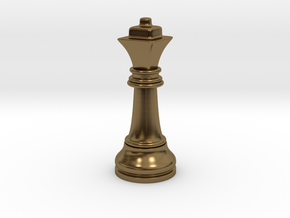 Single Chess Queen Big Square | Timur Ferz in Polished Bronze