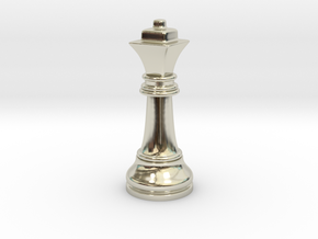 Single Chess Queen Big Square | Timur Ferz in 14k White Gold