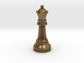 Single Chess Queen Big Standard | Timur Vizir in Natural Bronze