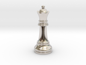 Single Chess Queen Big Standard | Timur Vizir in Rhodium Plated Brass