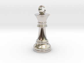 Single Chess King Moon Big / Timur Prince Ferz Viz in Rhodium Plated Brass