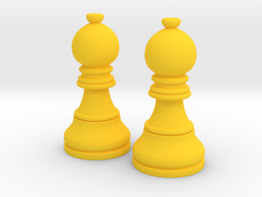 Pair Bishop Chess Big | Timur Picket Taliah in Yellow Processed Versatile Plastic