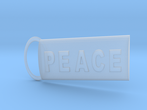 Peace Keyring in Smoothest Fine Detail Plastic
