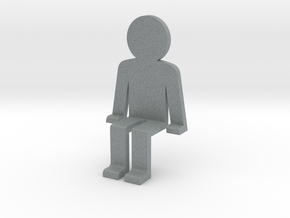 Person sitting in Polished Metallic Plastic