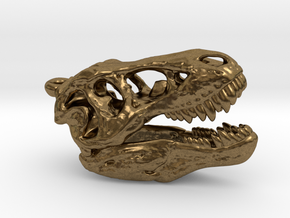 Tyrannosaurus rex pendant 25mm with loop in Natural Bronze