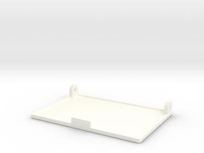 Pillbox Flap Scaled 80% in White Processed Versatile Plastic