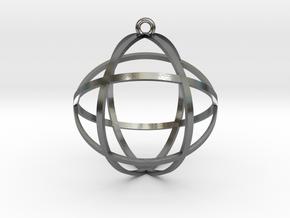 "Genesa Crystal 1.5"" in Polished Silver"