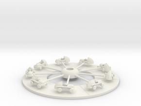 Miniatrueracerplus10percent in White Natural Versatile Plastic