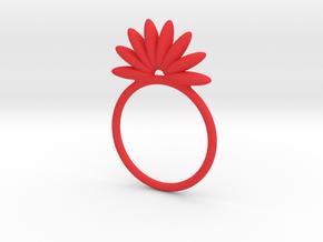 Demi Flower Ring in Red Processed Versatile Plastic