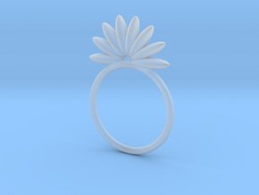 Demi Flower Ring in Smooth Fine Detail Plastic