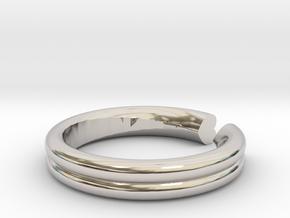 Open Heart Ring in Platinum