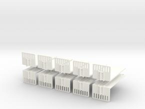 1/160 Spur N scale Abrollbehälter Plattform 10er in White Processed Versatile Plastic