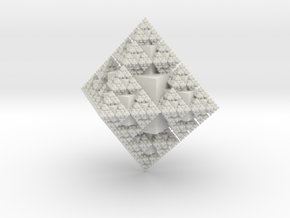 Fractal Crystal in White Natural Versatile Plastic
