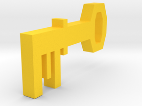Runescape: Brass Key in Yellow Processed Versatile Plastic