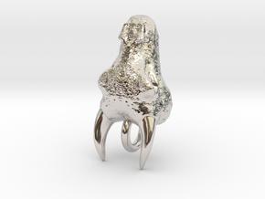 Dragon Head in Rhodium Plated Brass