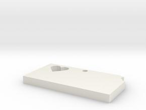 Kansas Earring in White Natural Versatile Plastic