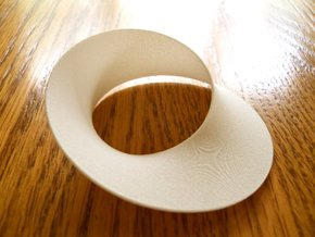 Mobius strip minimal surface in White Processed Versatile Plastic: Small