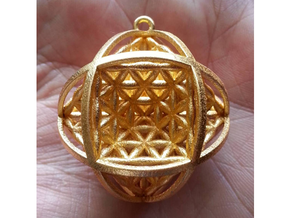 Ball Of Life Pendant in Polished Gold Steel
