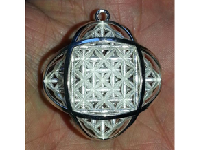 Ball Of Life Pendant in Polished Silver