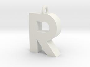 Alphabet (R) in White Natural Versatile Plastic