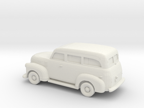 1/87 1947-54 Chevrolet Suburban in White Natural Versatile Plastic