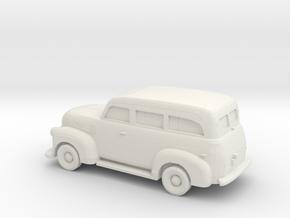 1/87 1947-54 Chevrolet Suburban in White Strong & Flexible