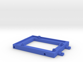 Arduino-mounting Plate (hollow) in Blue Processed Versatile Plastic