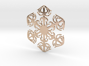 Snowflake Crystal in 14k Rose Gold Plated