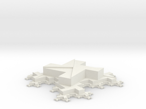 Octomino-based Fractal Tiling in White Natural Versatile Plastic