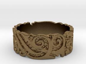 Ocean Kelp Forest Ring in Natural Bronze