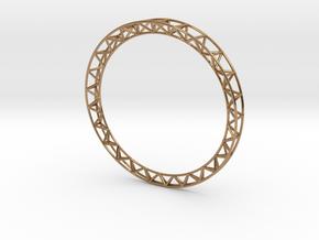 Intricate Framework Bracelet in Polished Brass