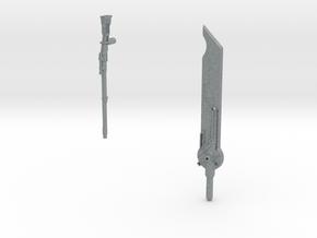 Custom Tf sniper riffle and futuristic sword in Polished Metallic Plastic