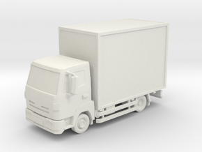 Truck 01. HO Scale (1:87) in White Natural Versatile Plastic