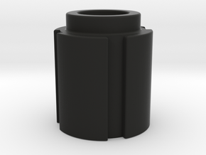 Trap Knob 1 in Black Natural Versatile Plastic