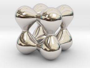 0191 F(x,y,z)=0 Blobs in Rhodium Plated Brass