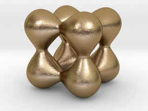 0191 F(x,y,z)=0 Blobs in Polished Gold Steel