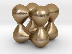 0191 F(x,y,z)=0 Blobs in Polished Gold Steel