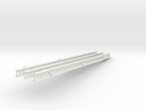 1-25 Katyusha Left Rails in White Natural Versatile Plastic