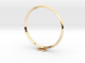 Pixel heART ring in 14k Gold Plated Brass