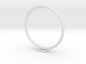 Pixel heART ring in White Natural Versatile Plastic