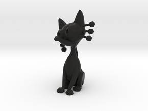 Black cat in Black Natural Versatile Plastic