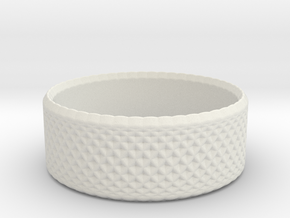 0195 Lissajous Figure Ring (Size0.5, 12.0mm) #006 in White Natural Versatile Plastic